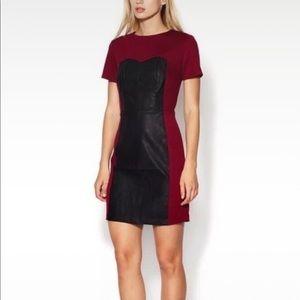 Burgundy faux leather Dress